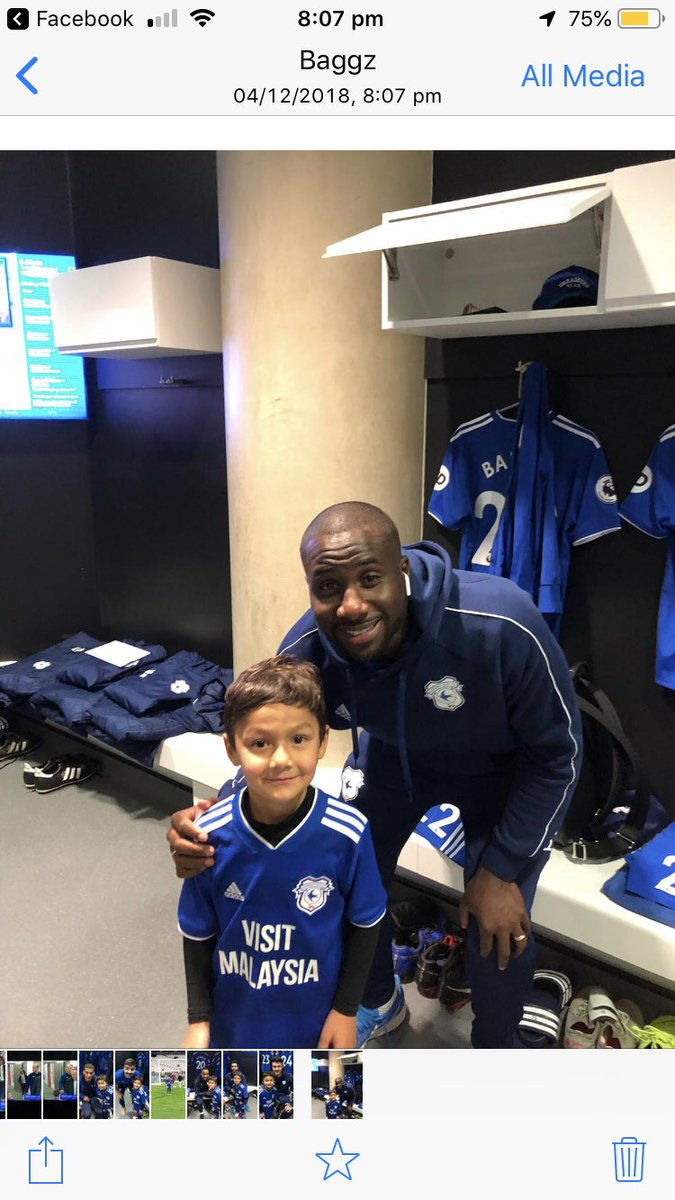 @CardiffCityFC thanks for allowing my boy to be your mascot tonight x