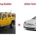 Hummer H2s foram para a bolha imobiliária dos EUA o que Teslas são para Tech Bubble 2.0. Corretores de hipoteca, nadadeiras de casa, etc estavam clamando para comprar Hummer H2s. Agora, a multidão de startups quer o Teslas. Cada bolha tem seu carro de criança de cartaz que simboliza a época. $ TSLA $ GM $ F