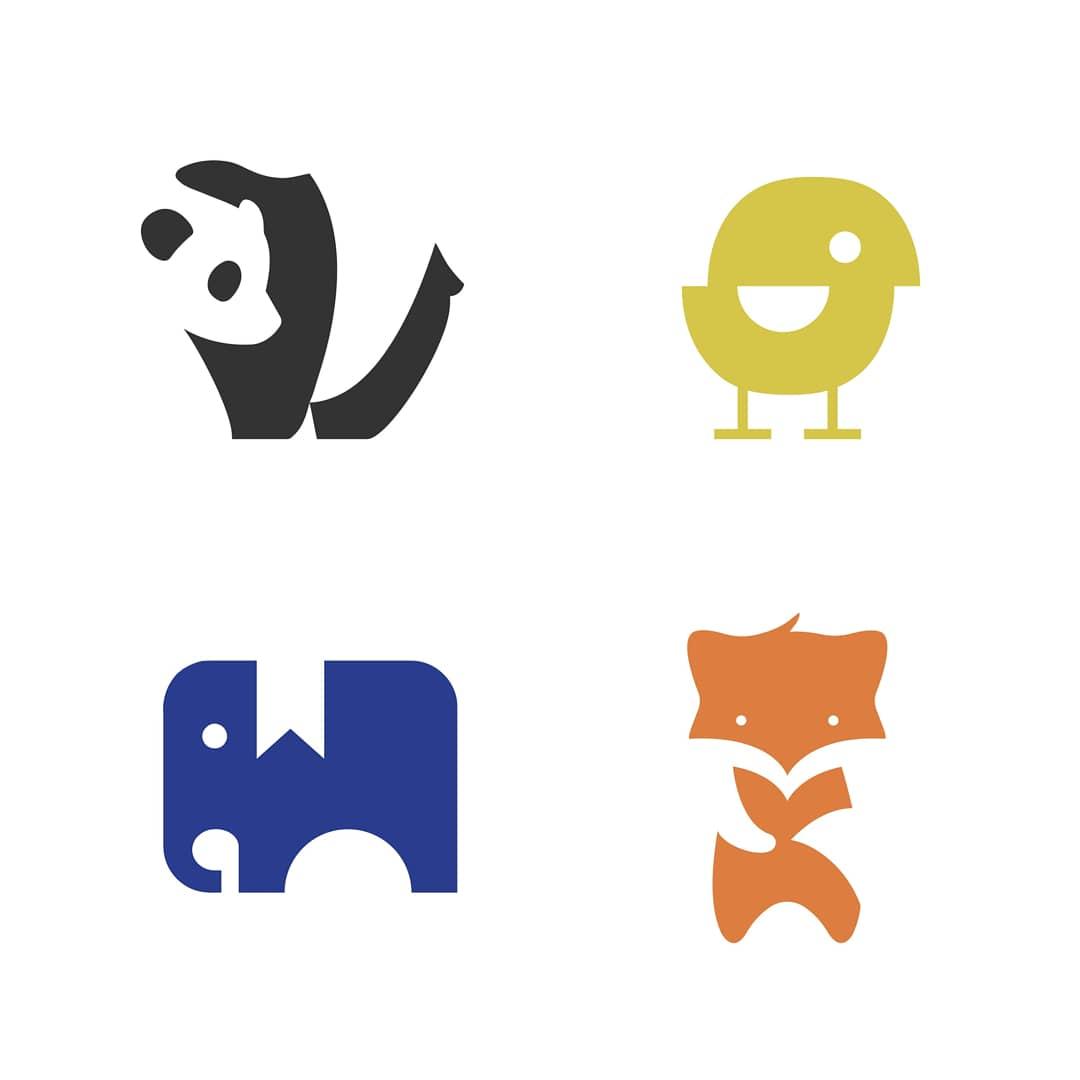My collection of negative space logos. ↳ nasibov.me/logofolio