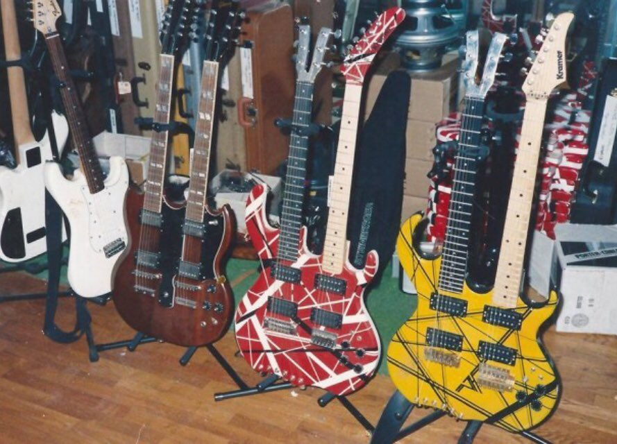 Kramer 5150 On Twitter Kramer Made Two Double Necks For Edward He Played The Yellow One Live