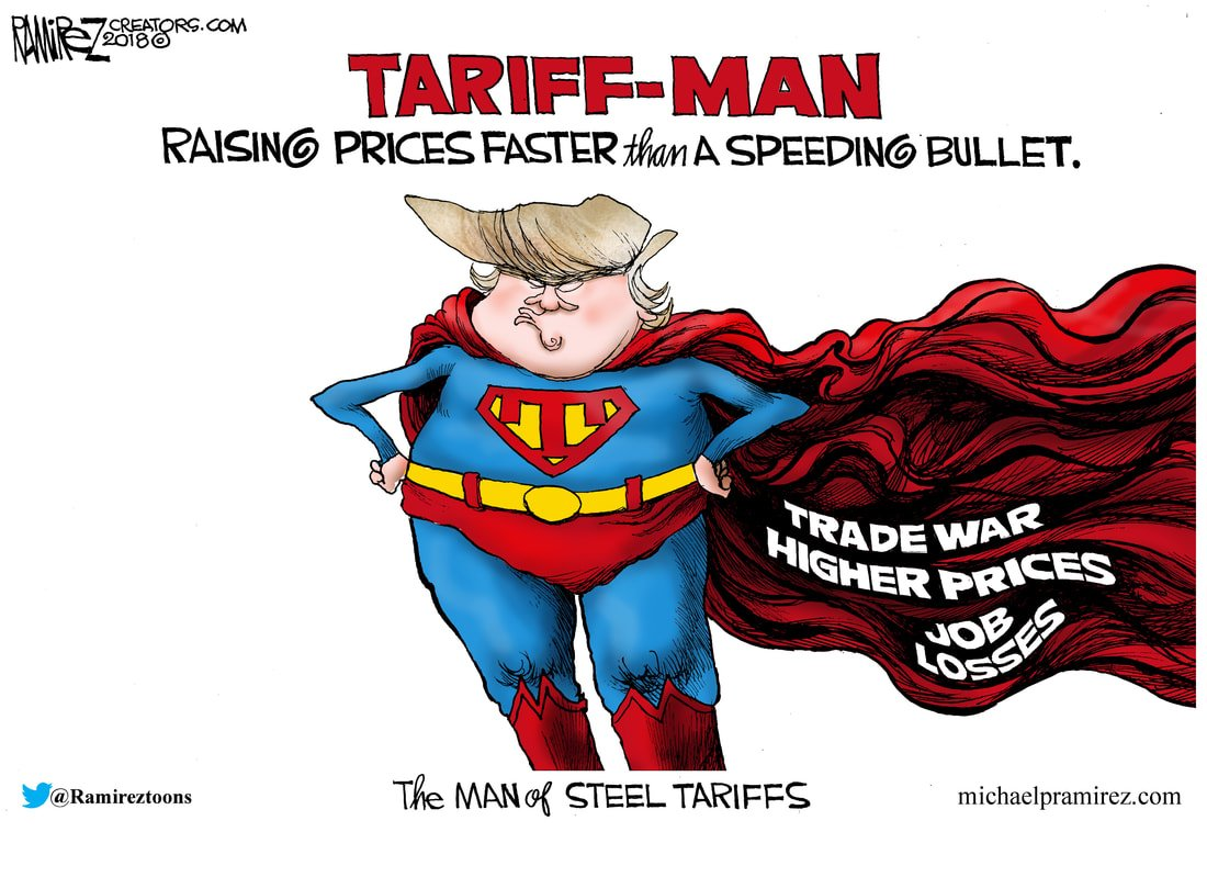 Image result for trump tariff man