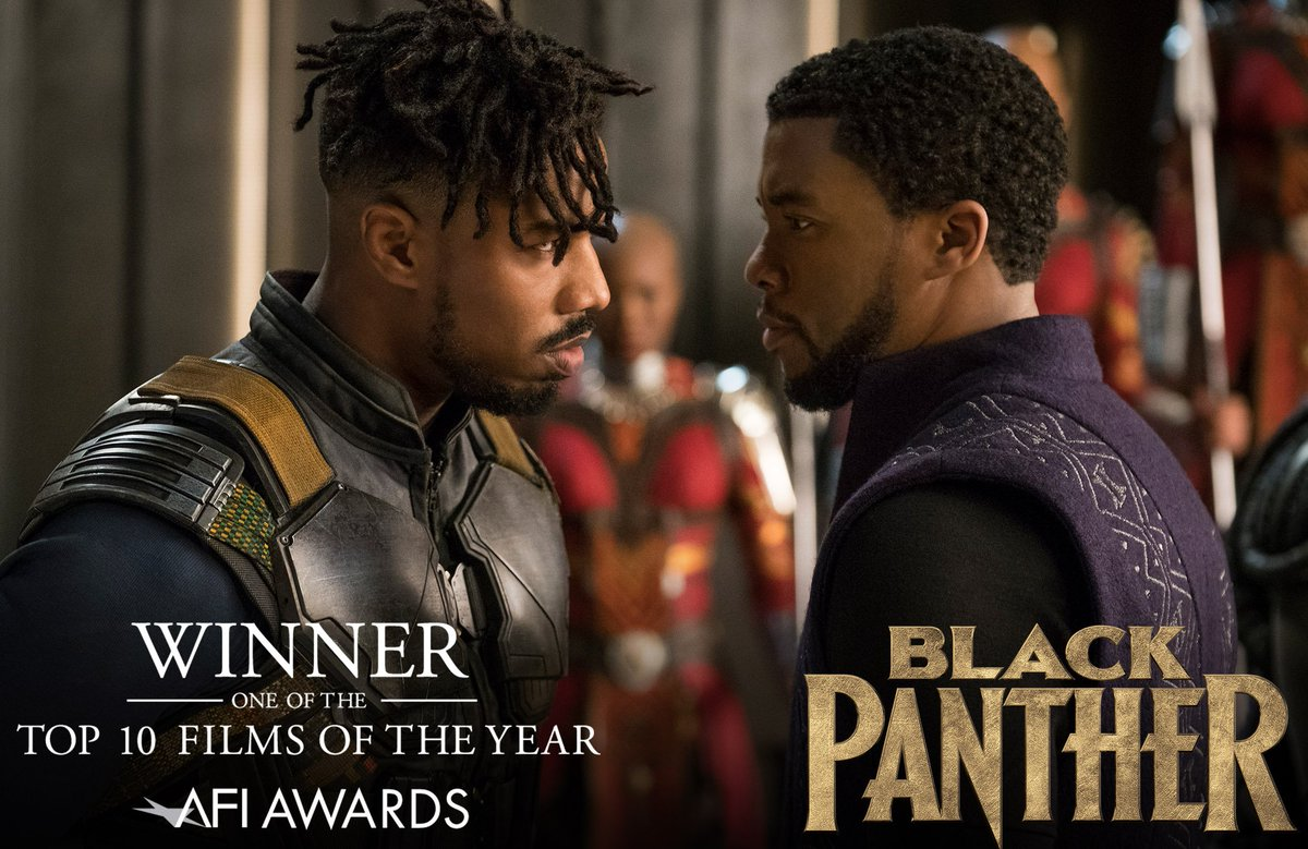 #BlackPanther has been named one of the 10 Best Films of the Year by the @AmericanFilm Institute! #AFIAwards