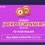 Image for the Tweet beginning: Congratulations to the Jackpot winner