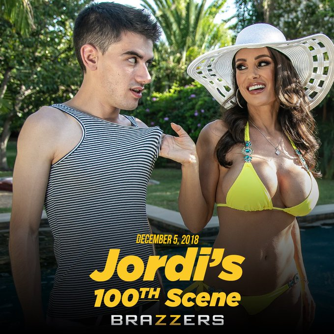 .@jordiporn gets spoiled in his 100th Brazzers scene! @thereallisaann #OutNow https://t.co/gMHW0FJgn
