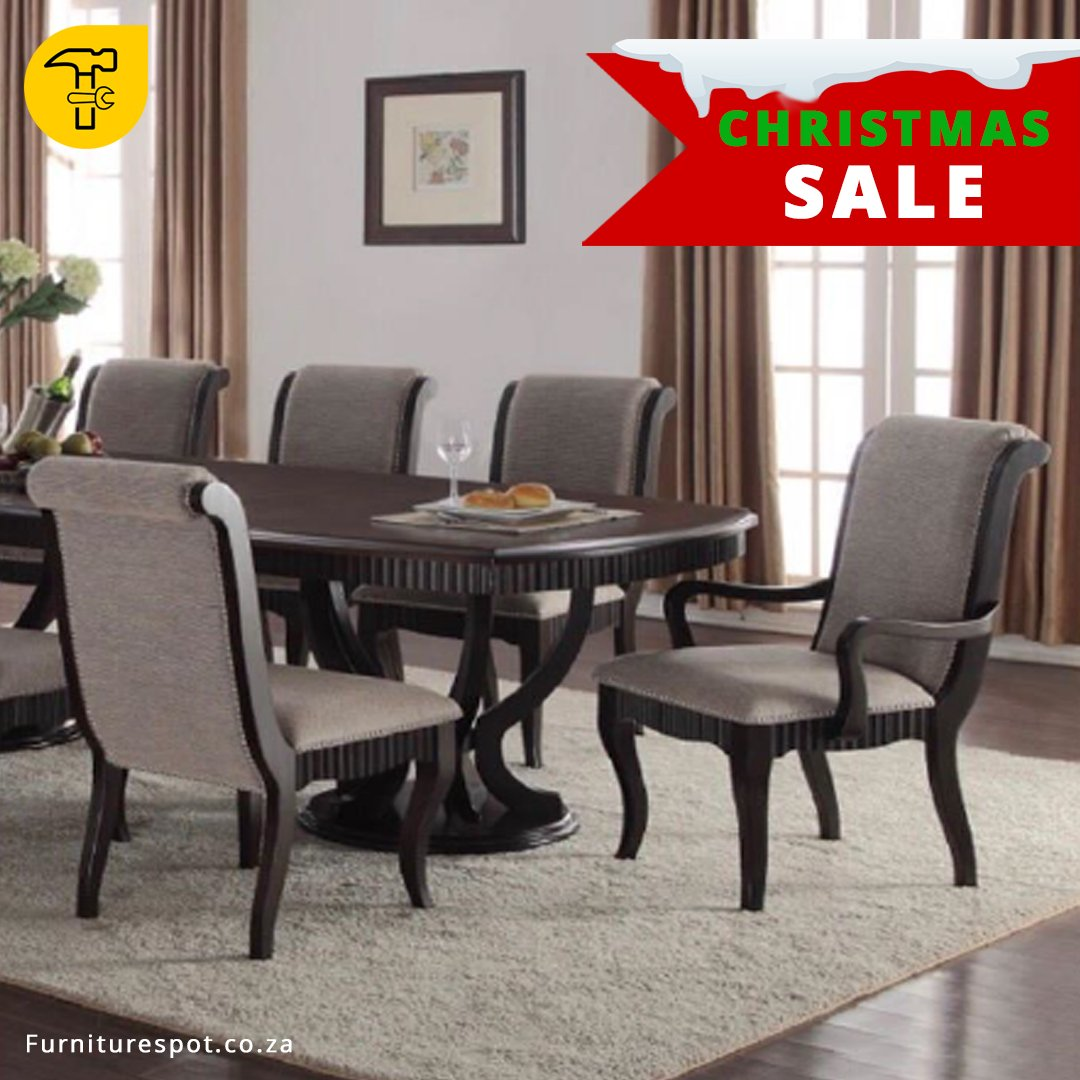 Feast Comfortably Around This Spacious Vegas 9 Piece Dining Room Set 8 Chairs A Solid Wood Table In Mahogany