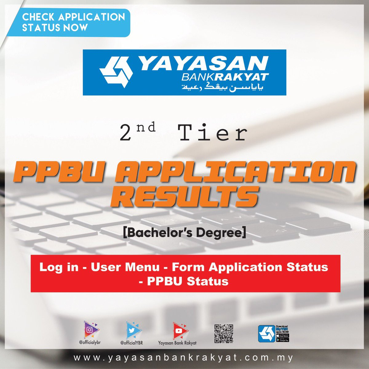 Yayasan Bank Rakyat Twitterissa Attention To All Applicants For Ppbu 2nd Tier You Can Now Check Your Result And Follow The Simple Guideline For Further Clarification Good Luck And All The
