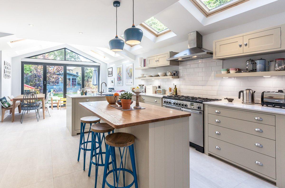 Don T Move Extend On Twitter This Beautiful Kitchen Showcases The Pitched Roof Perfectly There Are Many Different Ways Of Extending Your Home We Can Talk You Through Them Https T Co 3aq68utqv3 Builders Createspace