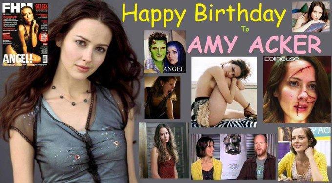 Happy birthday to Amy Acker, born December 5,1976.