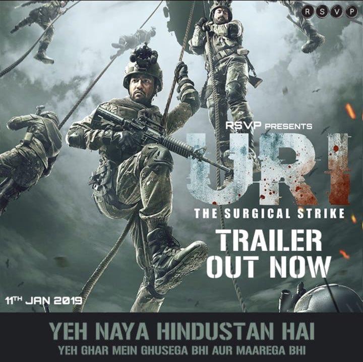 Yeh naya Hindustan hai! #URItrailer out now! http://bit.ly/URITrailer @yamigautam @SirPareshRawal @AdityaDharFilms @RonnieScrewvala @RSVPMovies