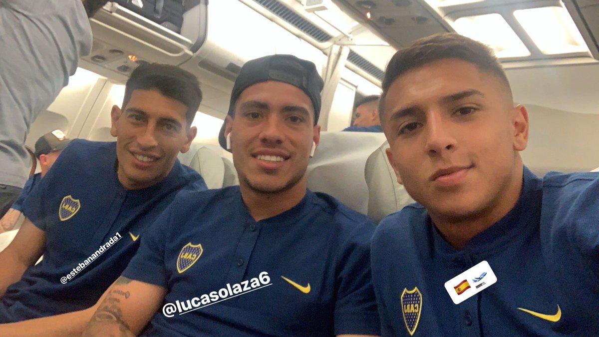 Agustín Almendra, Lucas Olaza y Esteban Andrada, juntos volando a España para la #Finalísima.