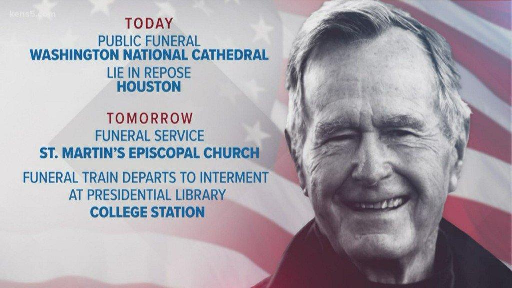 Kens 5 On Twitter President George Hw Bush Funeral Schedule Https