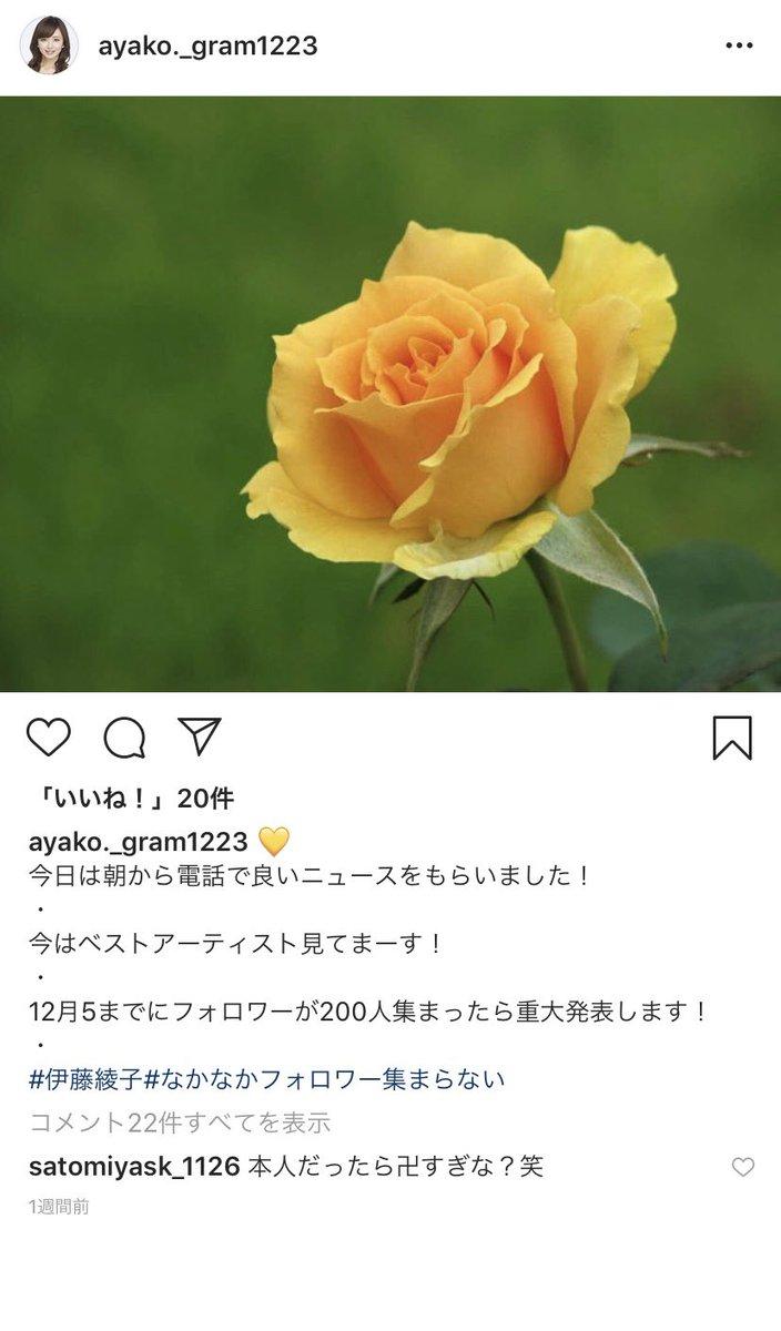 伊藤綾子インスタ 伊藤 綾子