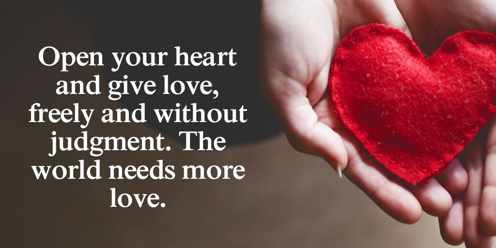 Tim Fargo On Twitter Open Your Heart And Give Love Freely And