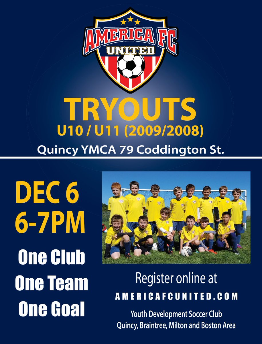 Birthyear 2008 or 2009? Play Soccer ---> tryouts are Thursday, December 6! #goAFC!