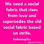 Image for the Tweet beginning: We need a social fabric