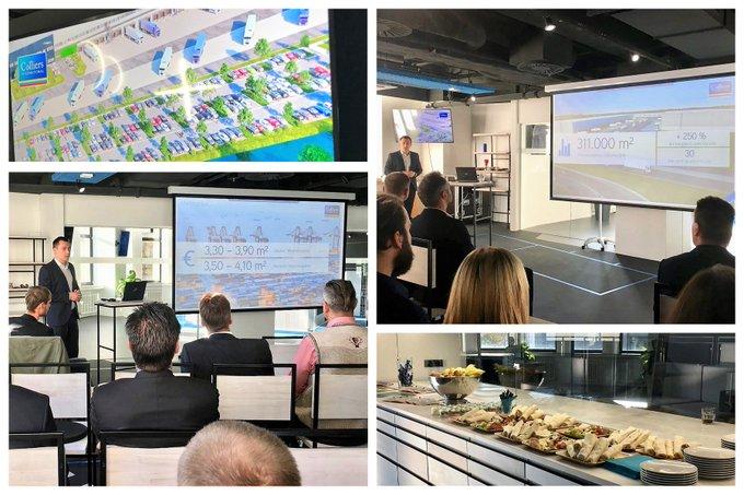 Logistikfrühstück in #Leipzig<br>Steffen Sauer (@bebeagle) hat das Marktgeschehen präsentiert und einen Ausblick in die Zukunft der #Logistik in und um Leipzig gegeben. Herzlichen Dank an alle Teilnehmer und unsere Referenten von @BaytreeLP und @Pamyra1!  t.co/YYm4dWffY4