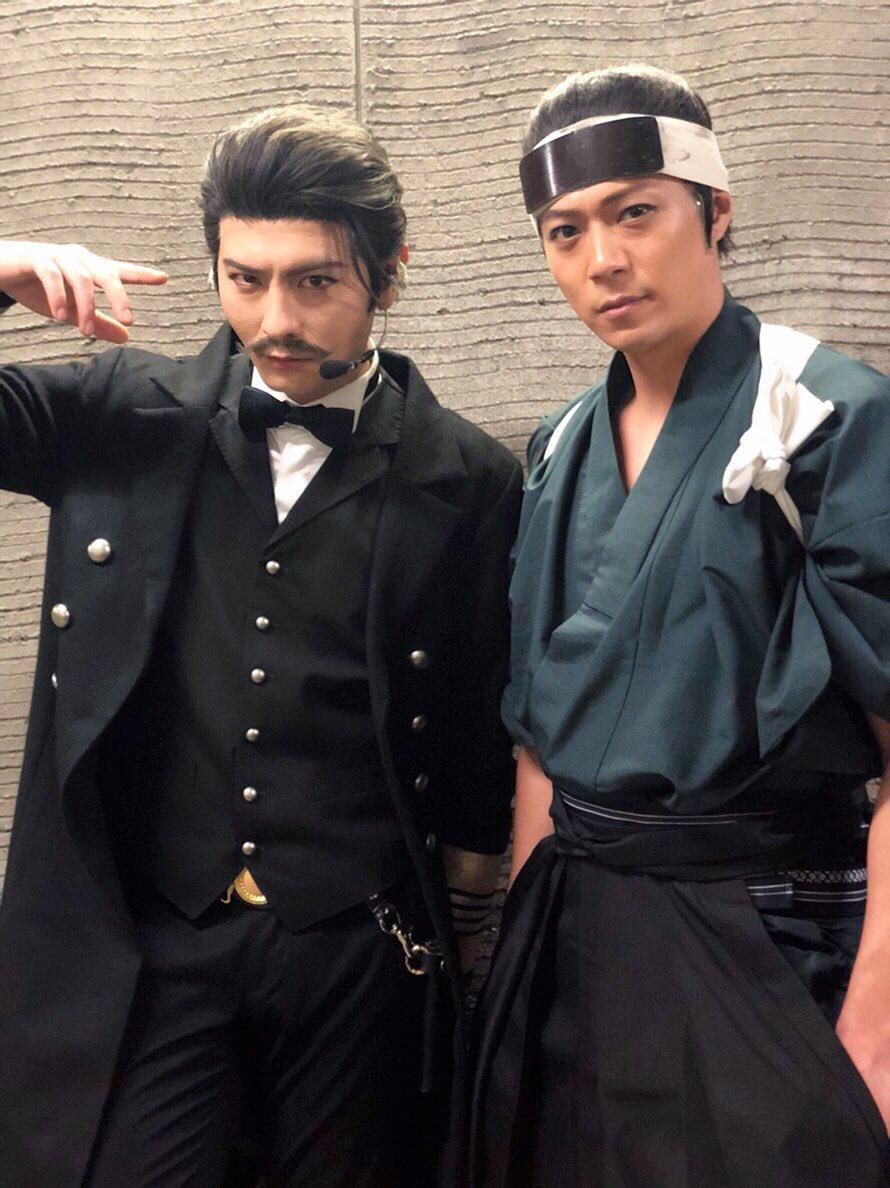 『真剣乱舞祭2018』宮城公演。セキスイハイムスーパーアリーナで、審神者の皆様をお待ちしてます。榎本さんとパシャリ♪#刀ミュ