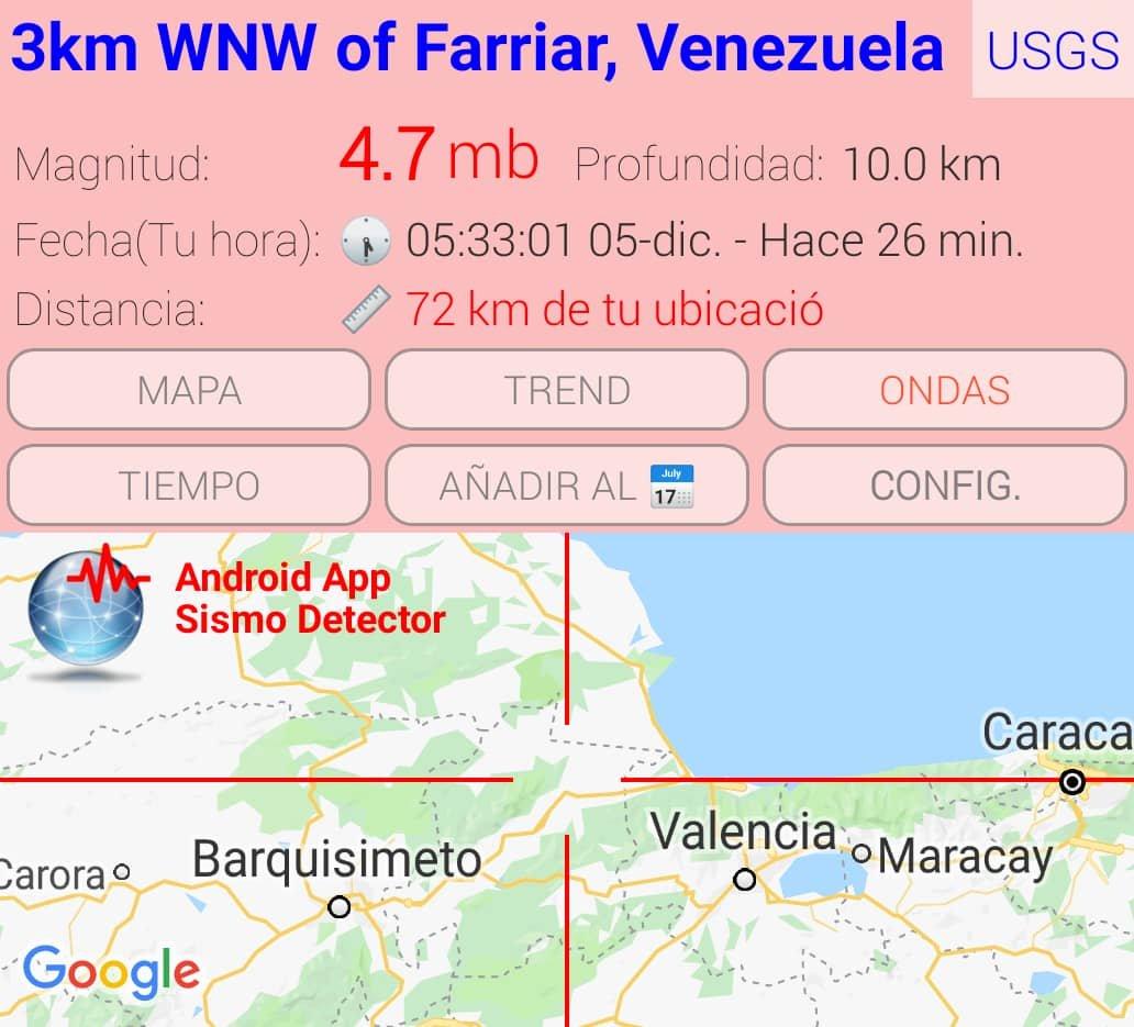 via @edgardotato: #sismo M4.7,  3km WNW of Farriar, #Yaracuy #Venezuela https://t.co/m96kd3ESip