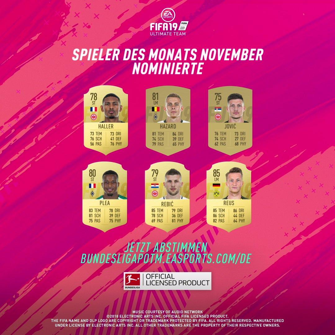 Es geht wieder los - Wähle jetzt deinen EA SPORTS Bundesliga Spieler des Monats November! #BundesligaPOTM #POTM #FUT #FIFA19  ➡️ http://bundesligapotm.easports.com/de