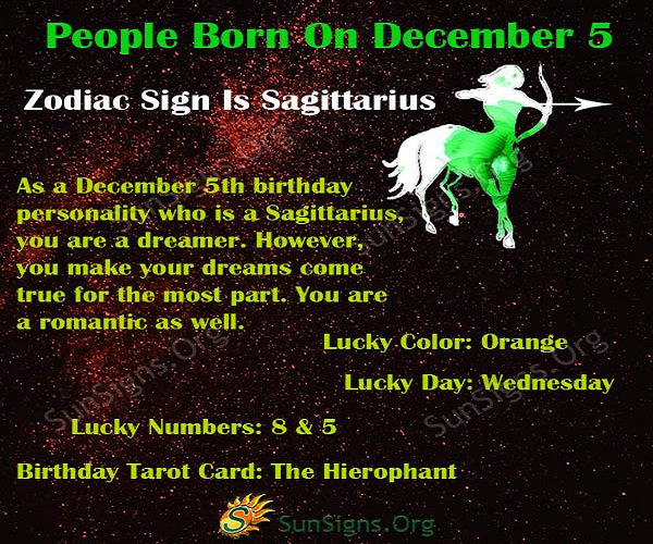 sagittarius december 5 astrology