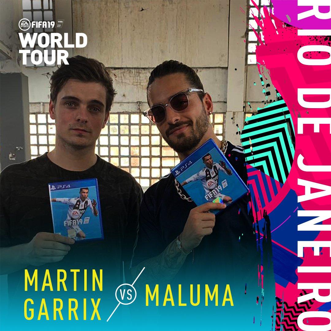 O Jogo Bonito in ���� as @MartinGarrix takes on @Maluma in the #FIFAWorldTour https://t.co/jAXjw9wcnu #FIFA19 https://t.co/he0fDxYOs2