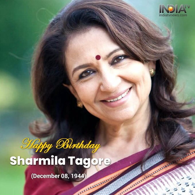 Many Happy Returns of The Day #SharmilaTagore May God bless you with a long and happy life. Photo