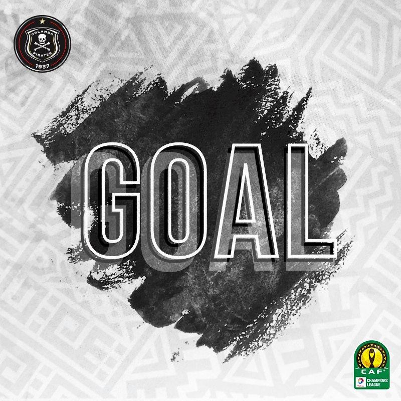 ☠ 11' Mntambo 🥅 Light Stars 0 - 1 @orlandopirates ⚫⚪🔴⭐ #CAFCL #Matchday  #OnceAlways