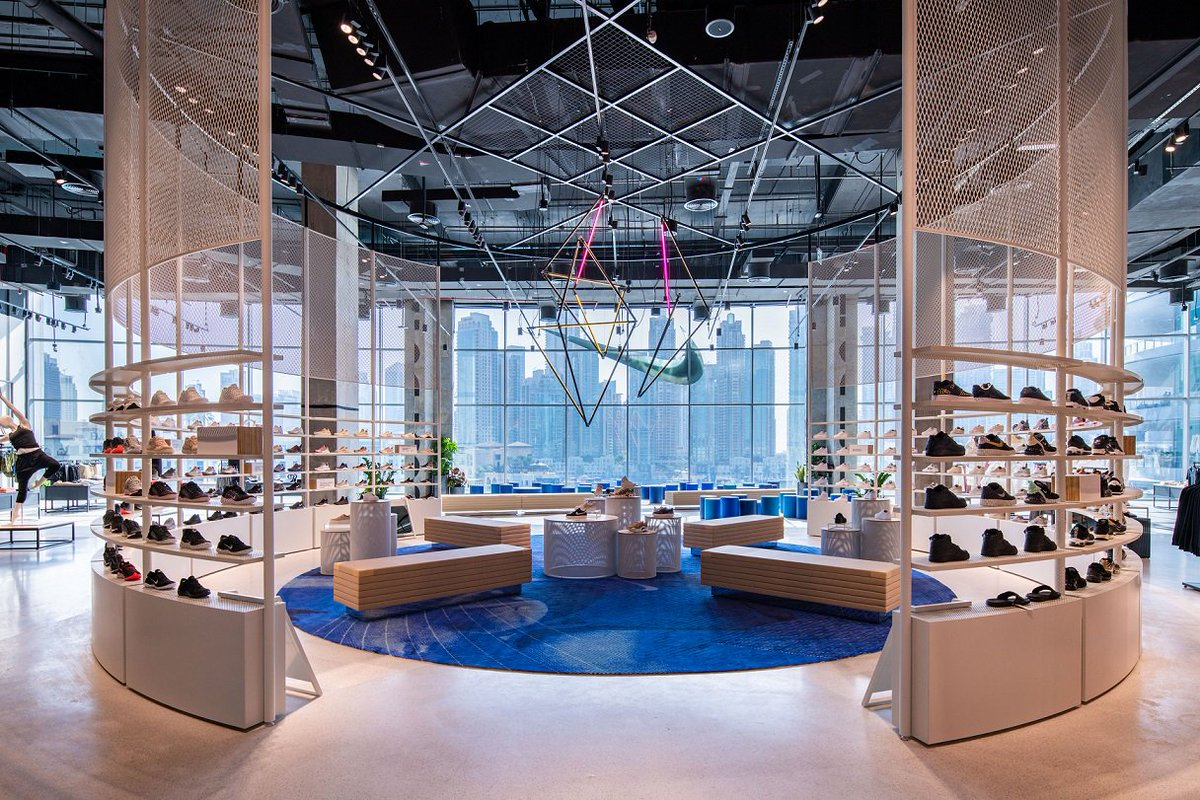 brand new d58fa 9e606 Our Dubai team just launched the biggest one floor Nike store in the world  with some help from Olympian fencer  IbtihajMuhammad.