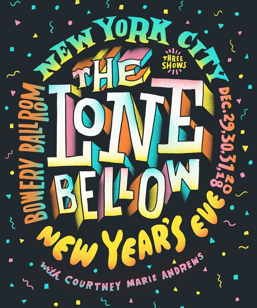 NYE IN NYC. We're coming back to New York City for 3 nights (w/ the full band) at the @boweryballroom with @courtneymamusic Dec. 29th, 30th and 31st. 🎉🗽Tickets are on sale now. http://bit.ly/LoneBowery