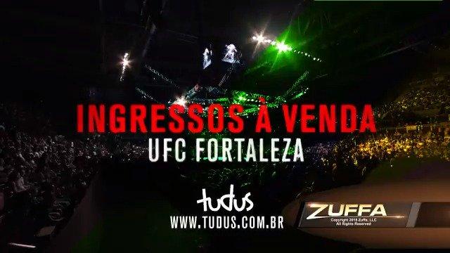 Os ingressos para o #UFCFortaleza, dia 2 de fevereiro, estão à venda AGORA! Garanta já o seu em ➡ tudus.com.br/evento/ufc-for…