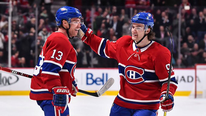 One of the best duos of all-time is the just have that connection. And these guys read each other very  Weber, Shaw and Julien on the chemistry developed between Domi and Drouin #TSNHockey Photo