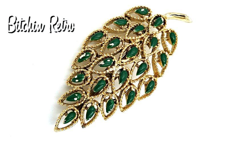 Vintage Gerry\u2019s leaf pin