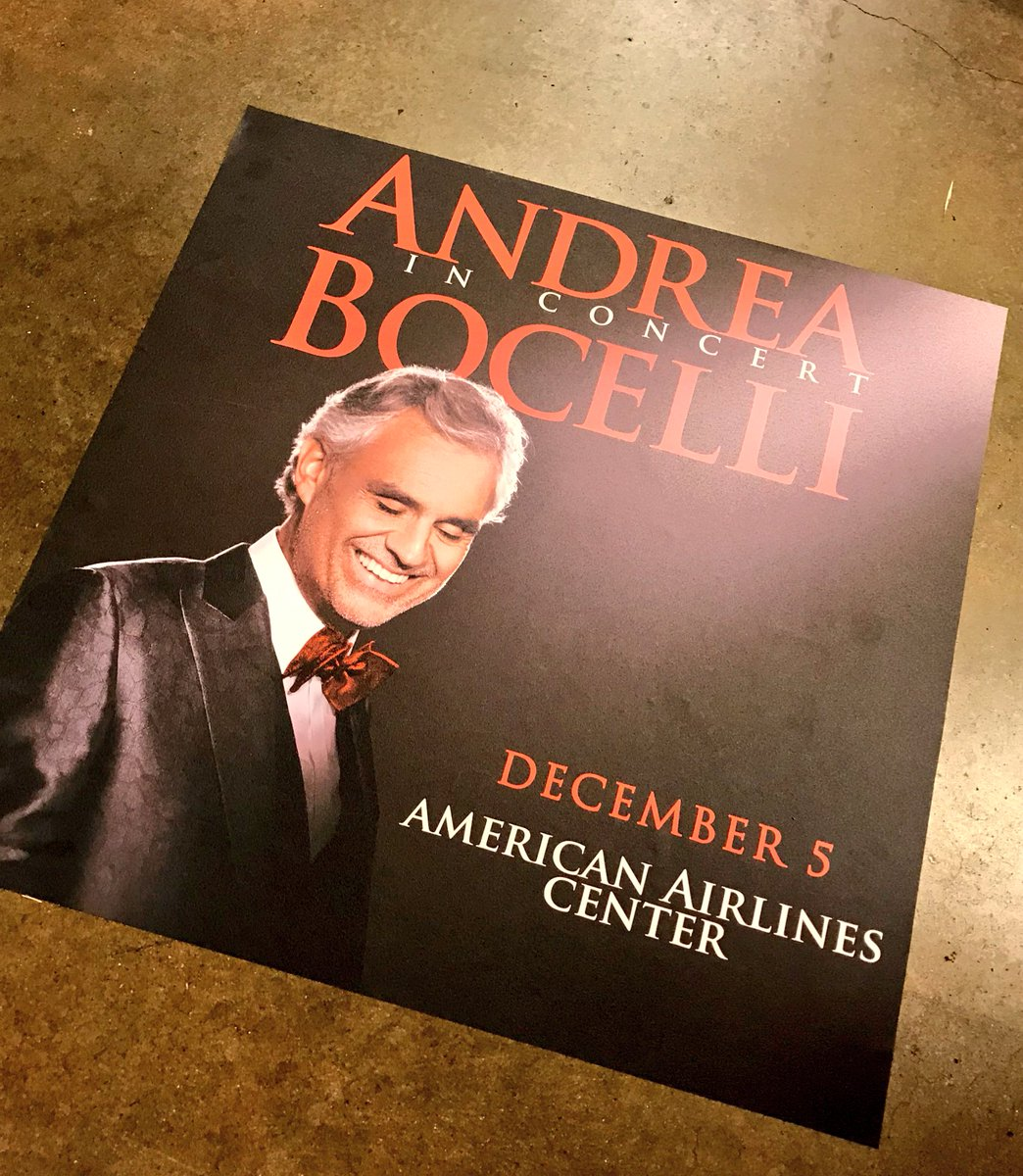 Welcome to Dallas @AndreaBocelli!! See you tonight!