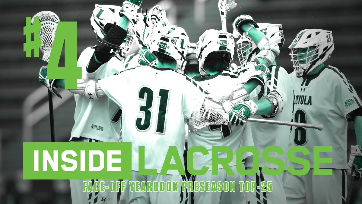 The @Inside_Lacrosse Face-Off Yearbook Preseason Top 2️⃣5️⃣ is out, and @LoyolaHounds were picked No. 4️⃣ in the nation!   📰: http://loyo.la/2AVsjIe @LoyolaMaryland @PL_MLAX #gohounds