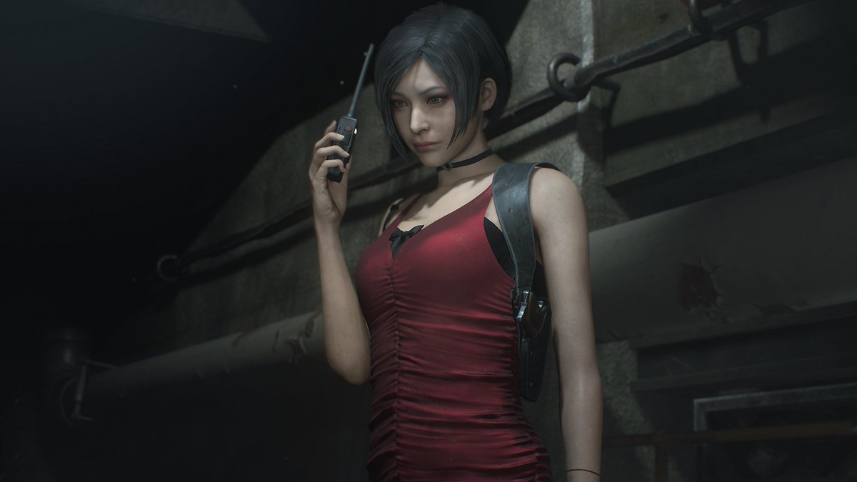 Meet Ada Wong. The mysterious lady in red. #RE2