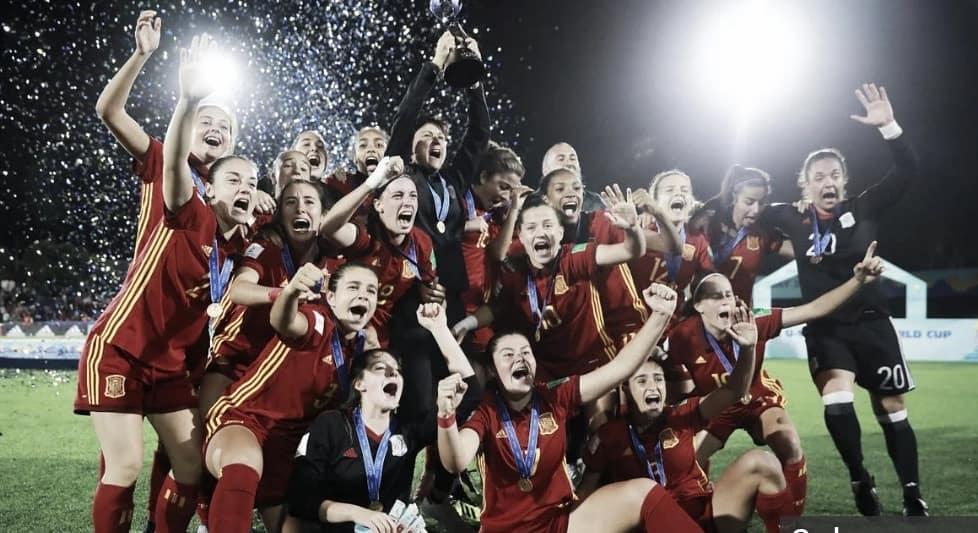 Esas Chicas Campeon@s se merecen una ola⚽🏆Super Campeonas del mundo 🥅🌐#u17wwc #todasaporelmundial #campeonasdelmundo
