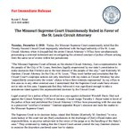 Image for the Tweet beginning: The Missouri Supreme Court Unanimously