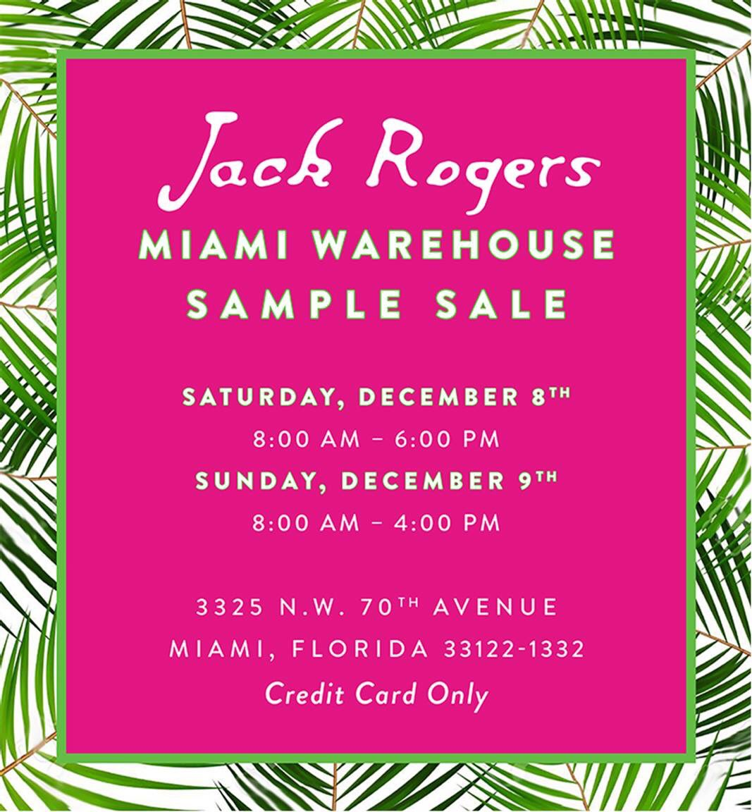 JACK ROGERS SAMPLE SALE https://t.co/dTimstISb1