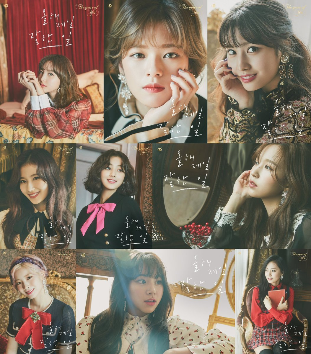 All 9 members [12AM] teaser photo for #TheBestThingIEverDid #TWICE #트와이스