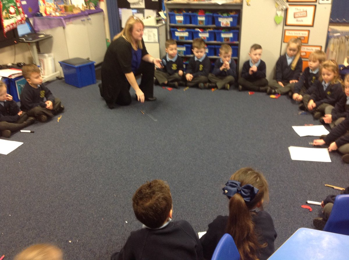"""Reception class - today we have been learning about """"short and long"""" in Maths and in English we have been practicing writing our green words."""