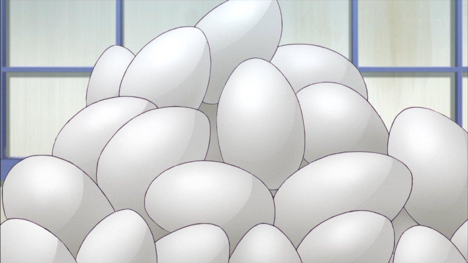 たまご山盛りw #ソラウミアニメ https://t.co/wHlxWgcFhV