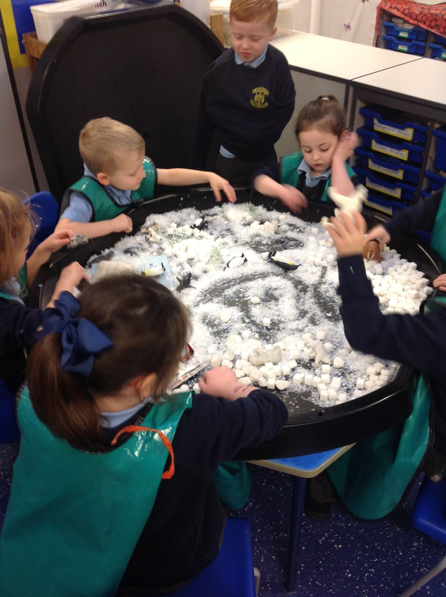 Reception class - we have been exploring the North Pole/ Arctic today.