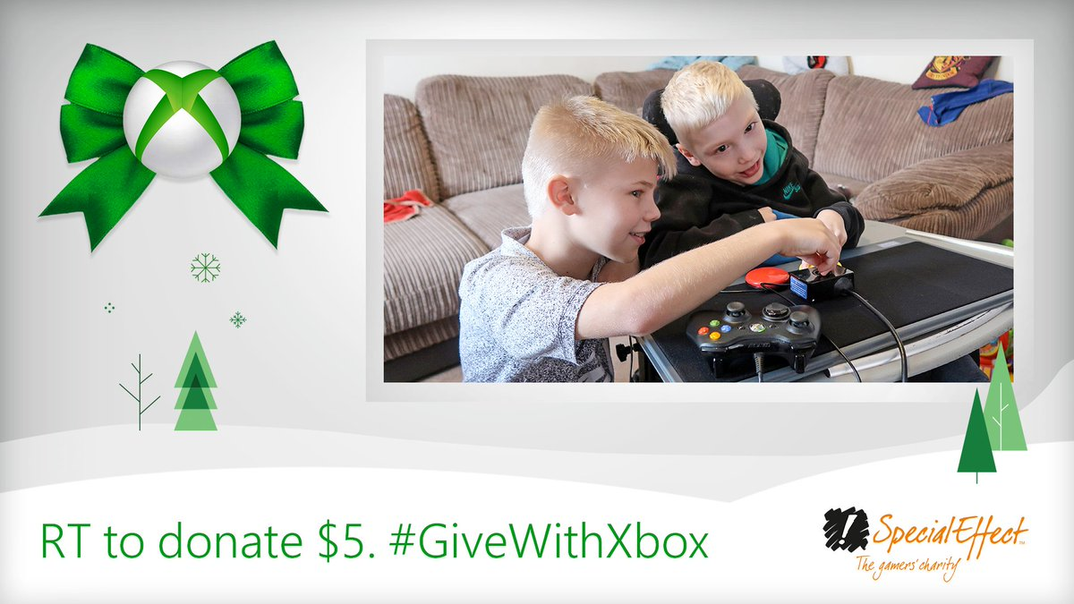 👉You hit the RT button 💵We donate $5 in Xbox products to charities like @SpecialEffect 😊You feel great 🙏Thank u, next 💚Learn more:  #GiveWithXbox