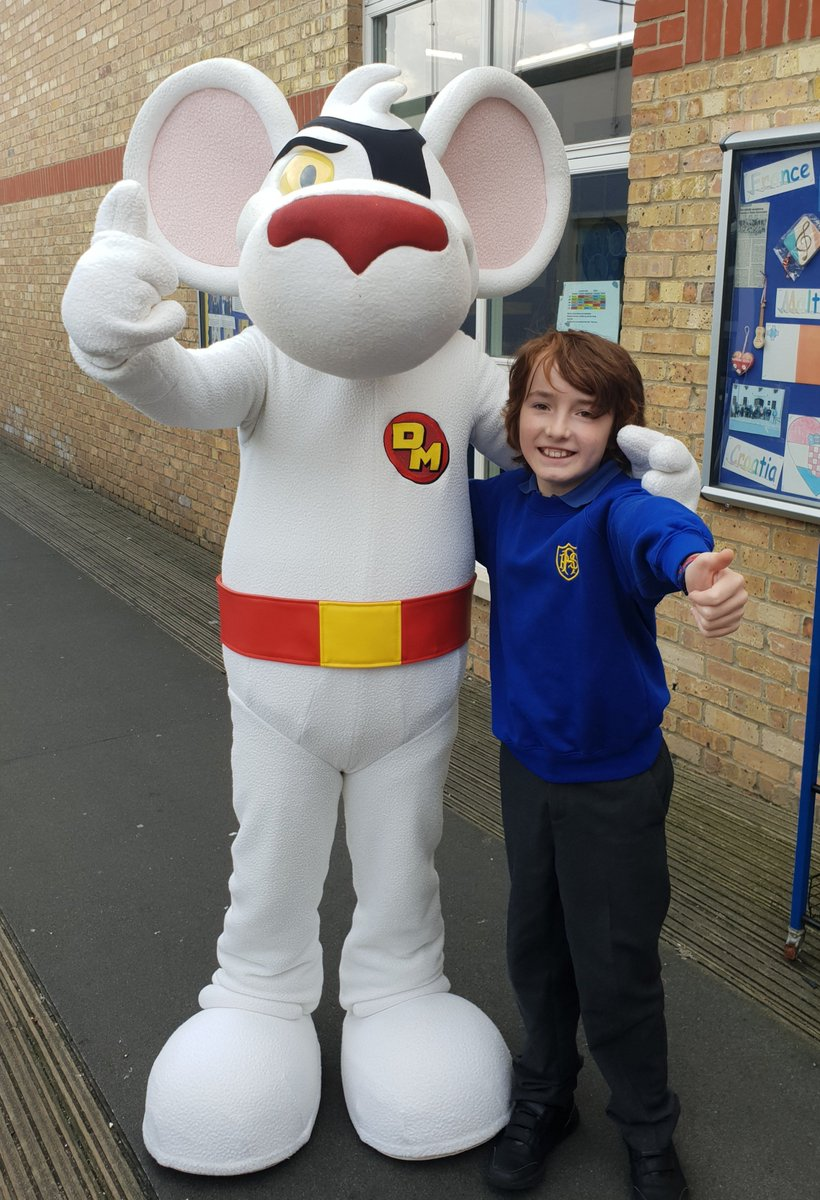 A Massive Thanks To Our Prize Winner Frankie And His Class Of Future Danger  Agents For Giving Us A Warm Wimpy Welcome! #DangerMouse ...