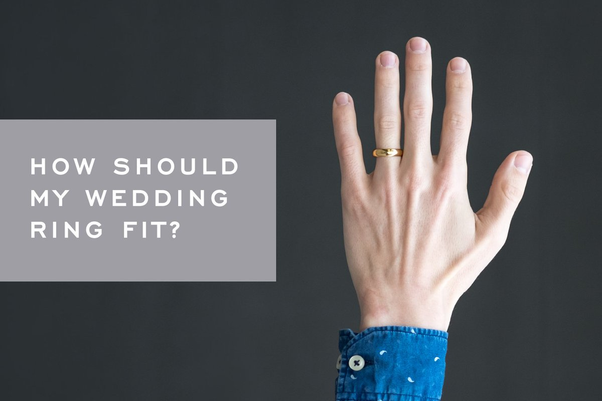 How do you know when your wedding band is the right fit?