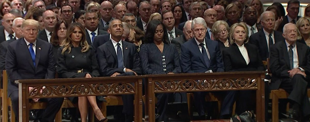 RT @_MissLeandra: The tension is THICK on that front row. #GeorgeHWBushFuneral https://t.co/tntzxcnD5x