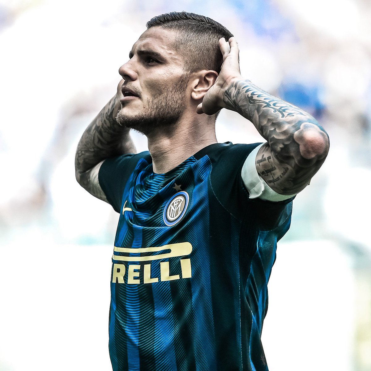 ⚫️🔵 Mauro Icardi at Inter:   👕1⃣9⃣8⃣ ⚽️1⃣1⃣8⃣  #UCL