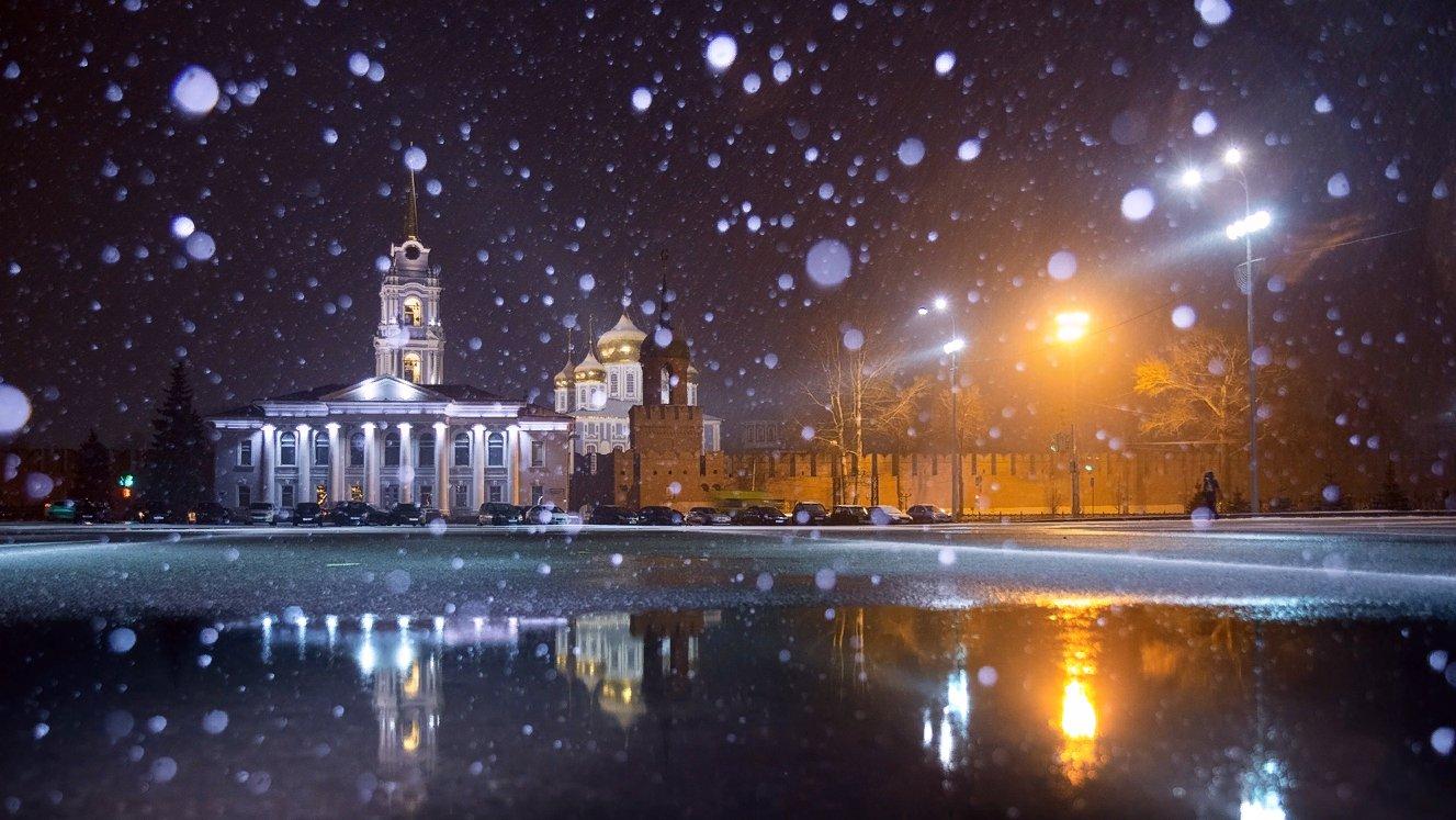 зимний городской пейзаж тулы фото модник
