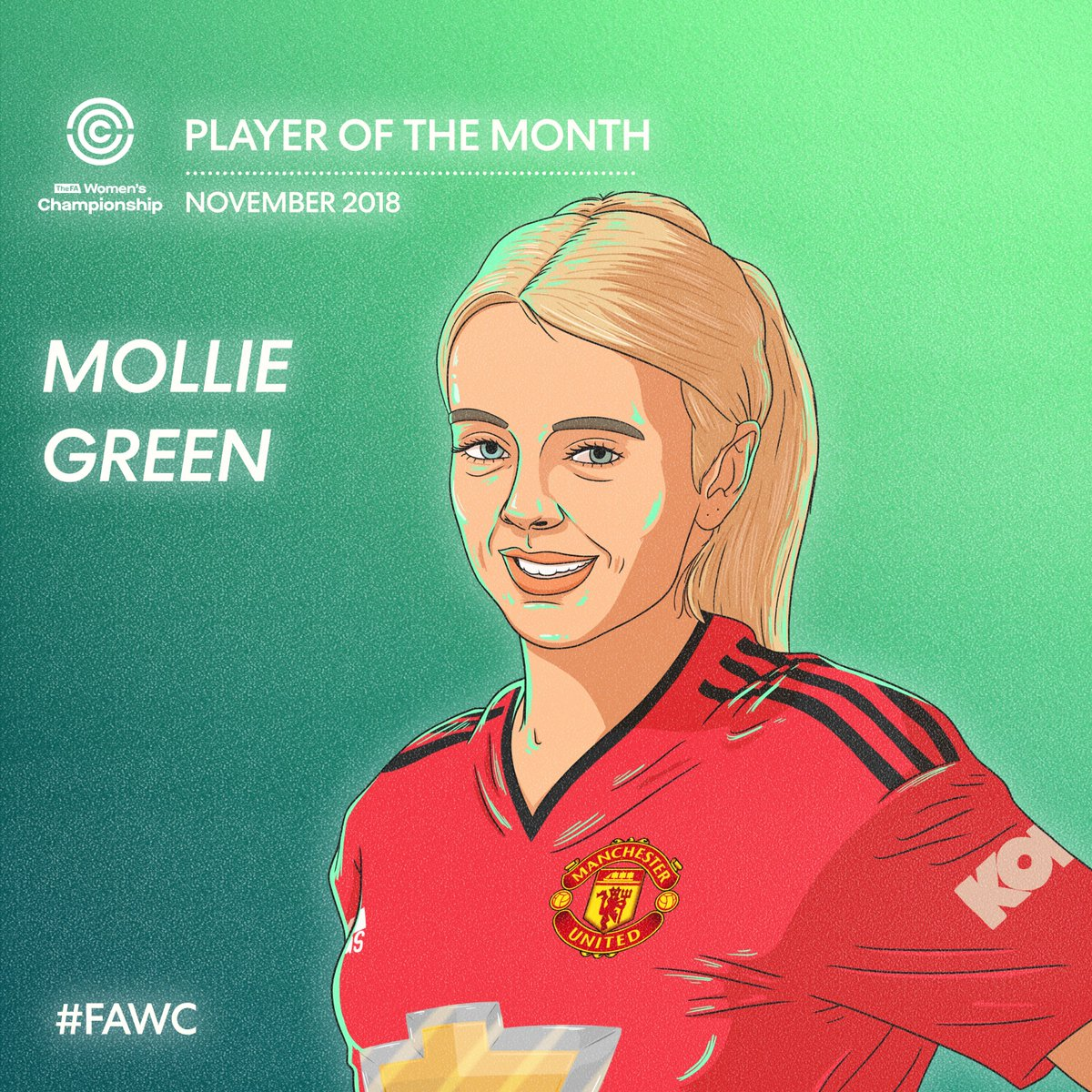 ✅ Three wins with @ManUtdWomen  ⚽️ Five goals in #FAWC  🔥 @mollie_green97's November > everyone else's