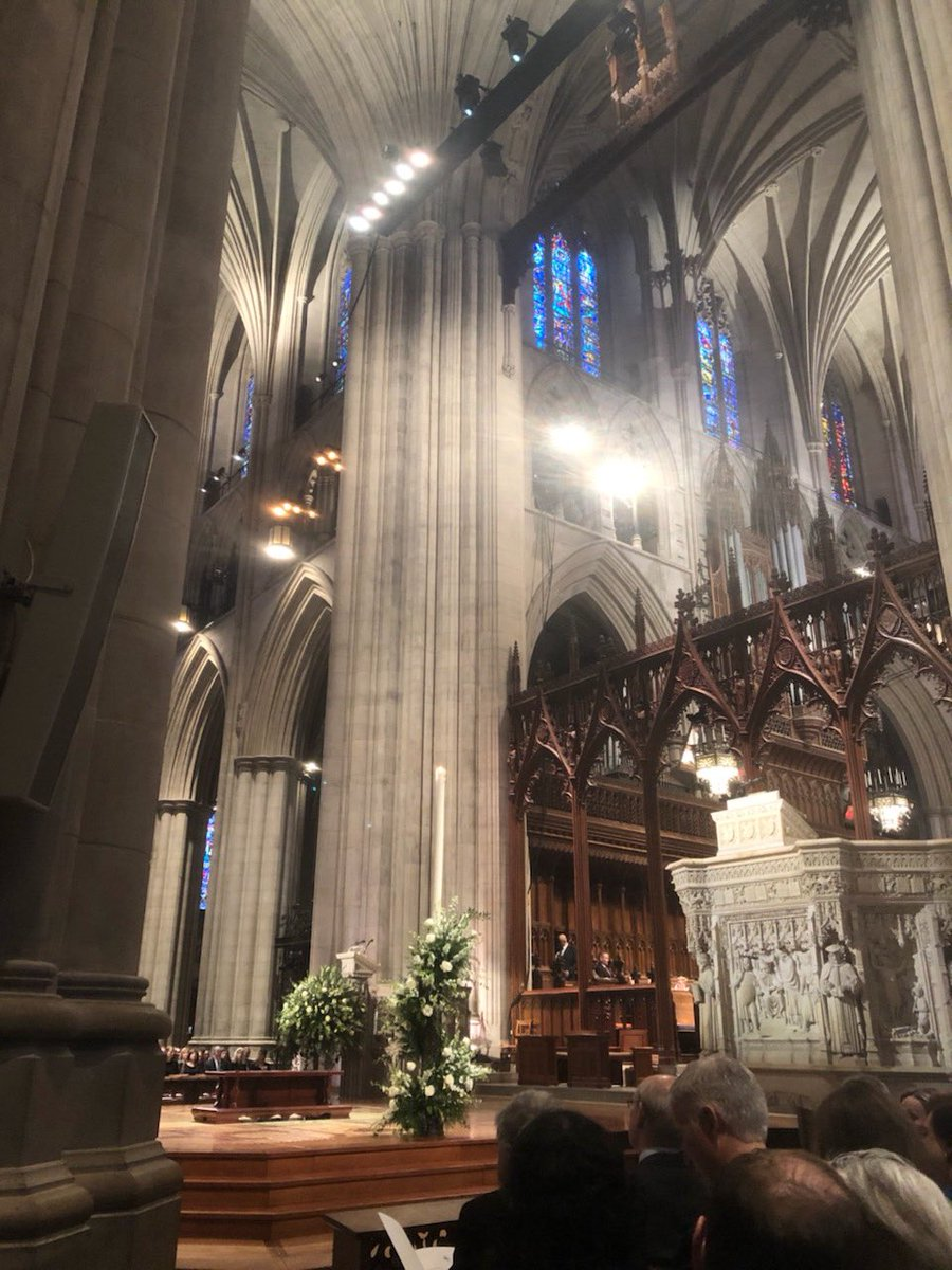 It's my second time in only a few months to be here at the beautiful Washington National Cathedral to honor an American patriot.We need John McCain and President Bush's love of country and passion for our Democracy now more than ever. <br>http://pic.twitter.com/GlthMCTgUi